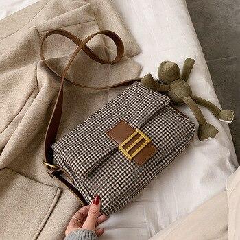 2020 Brand Designer Women Lattice Shoulder Crossbody Bag Fashion Temperament Small Square Package Chic Portable Clutch Tide
