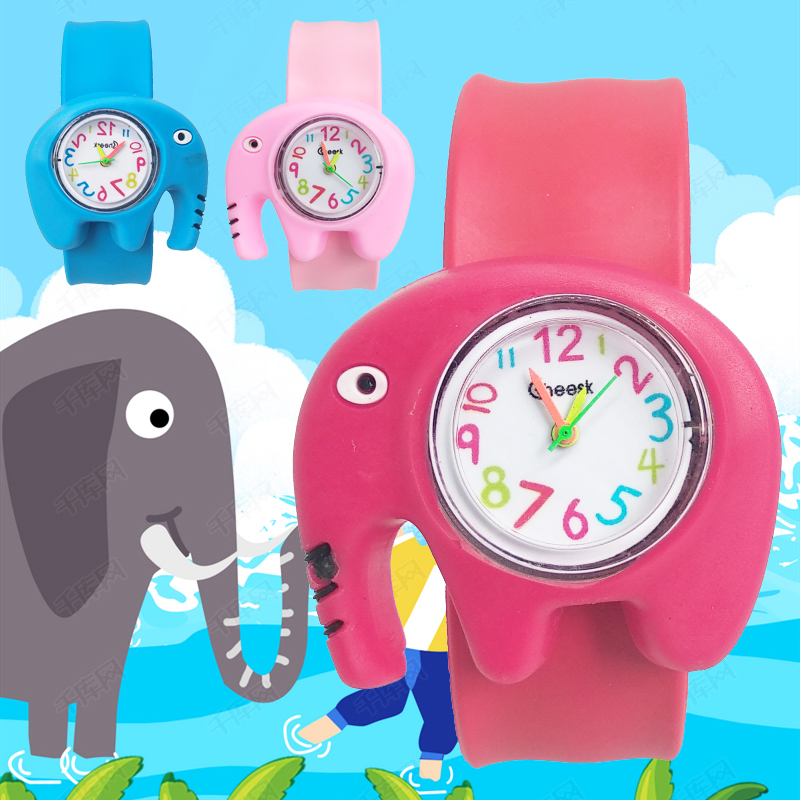 Forest Elephant Or Tiger Children Watch For Girls Boy Baby Gift Clock Child Watch Kids Student Electronic Watches Reloj Infantil