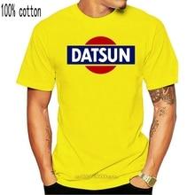 Datsun branco logotipo retro t camisa nova 240z 260z 280z zx 510 fairlady