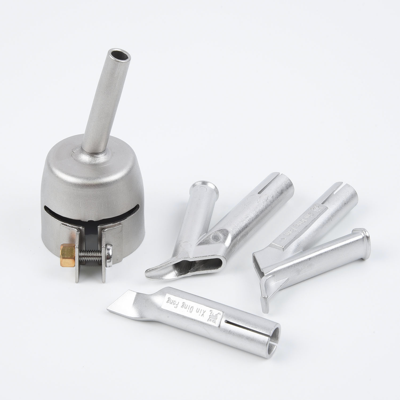 4Pcs Speed Welding Nozzles For Vinyl PVC Plastic Hot Air Gun 5mm Weld Tip