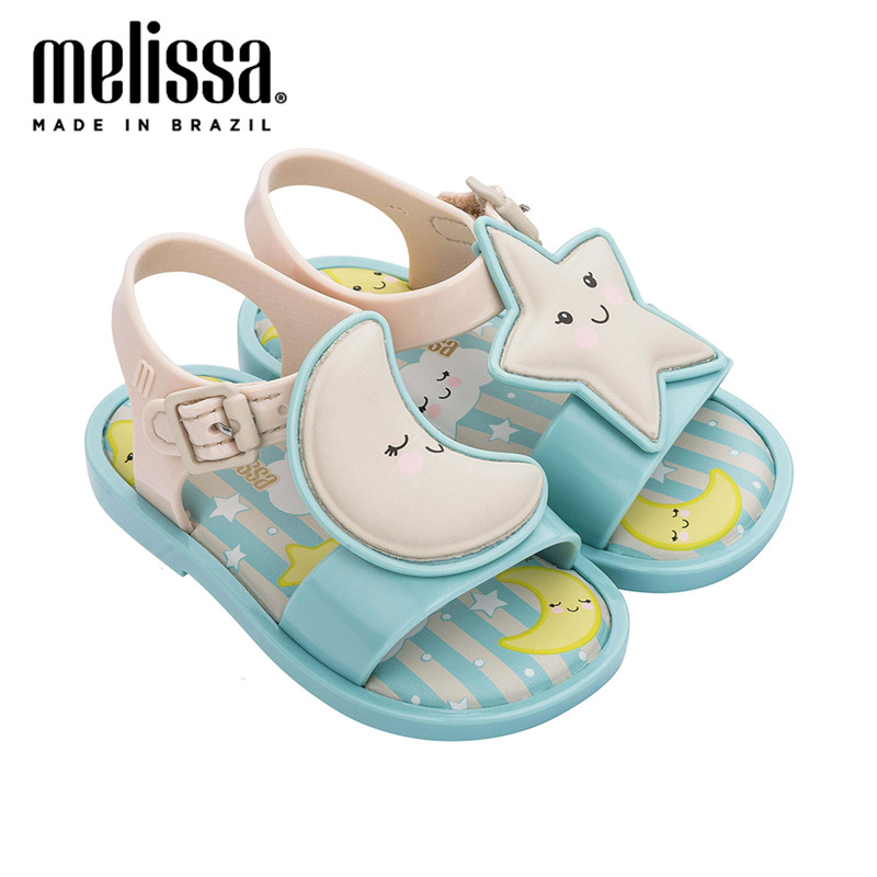 Mini Melissa Sweet Princess Girl Sandals 2020 New Jelly Shoes Sandals Kids Sandals Children Beach Shoes Non-slip Toddler Shoes