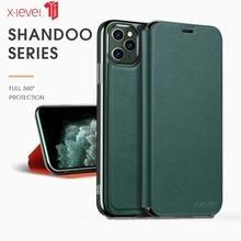 X-level Case For Iphone 11 Pro Case Telefoonhoesje All-inclusive Luxury Flip Protective Case For Iphone11 Pro Max Case Bracket недорого