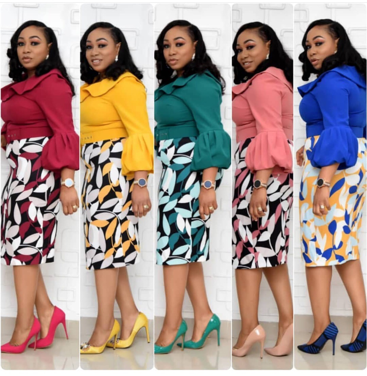 2019 autumn sexy fashion style african women printing polyester plus size knee-length dress