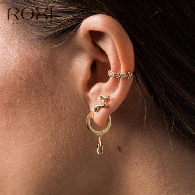 ROXI Punk Long Snake Earrings for Women Jewelry 925 Sterling Silver Earring Fashion Exaggerated Serpentine Tassel.jpg 640x640 - ROXI  Punk Long Snake Earrings for Women Jewelry 925 Sterling Silver Earring Fashion Exaggerated Serpentine Tassel Stud Earrings