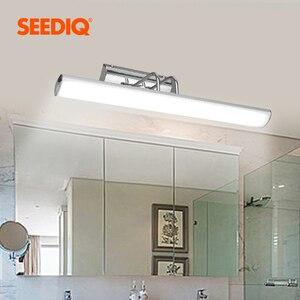 Image 2 - מודרני Led מראה אור קיר מנורת חדר אמבטיה 12W 42CM AC 90 265V נירוסטה עמיד למים Led קיר אור קבועה יהירות אור