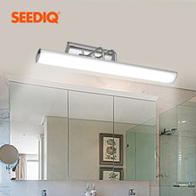 Modern Led Mirror Light Wall Lamp Bathroom 12W 42CM AC 90-265V Stainless steel Waterproof Led Wall Light fixture Vanity Light(China)