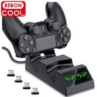 Für PS4 Controller Ladegerät Station USB Dual Schnelle Ladestation Dock für PlayStation4/PS4 Dünne/Pro Joystick Gamepad controller