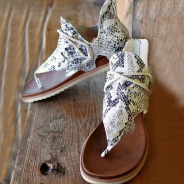 Summer Women Sandals Flock Platform Animal Print Flat Heel Peep Toe Fashion Casual Beach Female Ladies Shoes Zapatos De Mujer Uncategorized Ladies Shoes Women's Fashion
