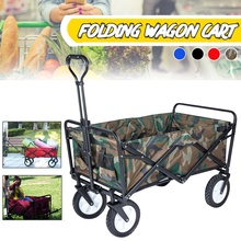 Trolley Cart Shopping Cart Four Wheel Woman Shopping Basket Household Shopping Bags Trolley Trailer Wagon Portable Foldable