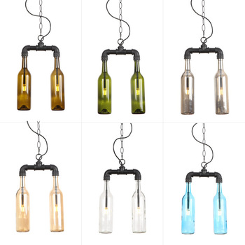 Dgb009] loft industrial iron art American style personalized cafe bar clothing beer bottle Chandelier