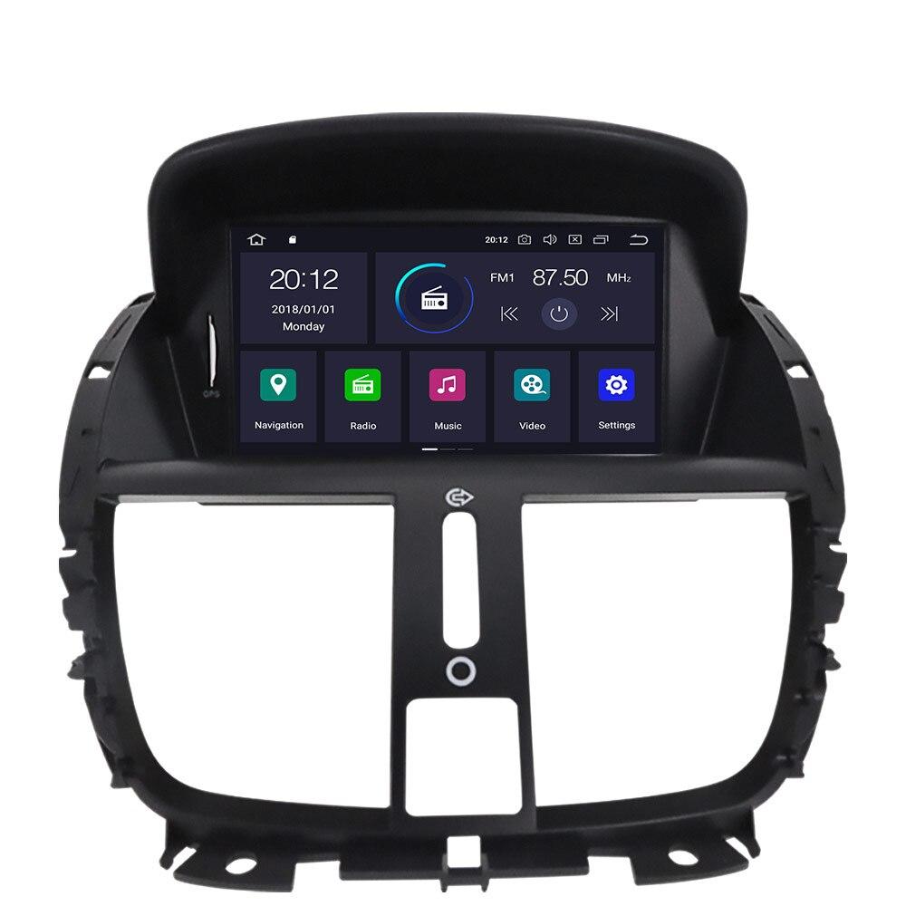 2 Din Android 10.0 nawigacja samochodowa gps samochodowy odtwarzacz dvd z nawigacją dla Peugeot 207 2008-2014 jednostka samochodowa multimedia radiowe ekran IPS darmowa mapa IPS