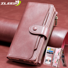 Luxury Detach Wallet For Samsung Note20Ultra Leather Flip Case For Samsung Galaxy S8 S9 S10 E 5G Note 8 9 10 + Plus Phone Cover