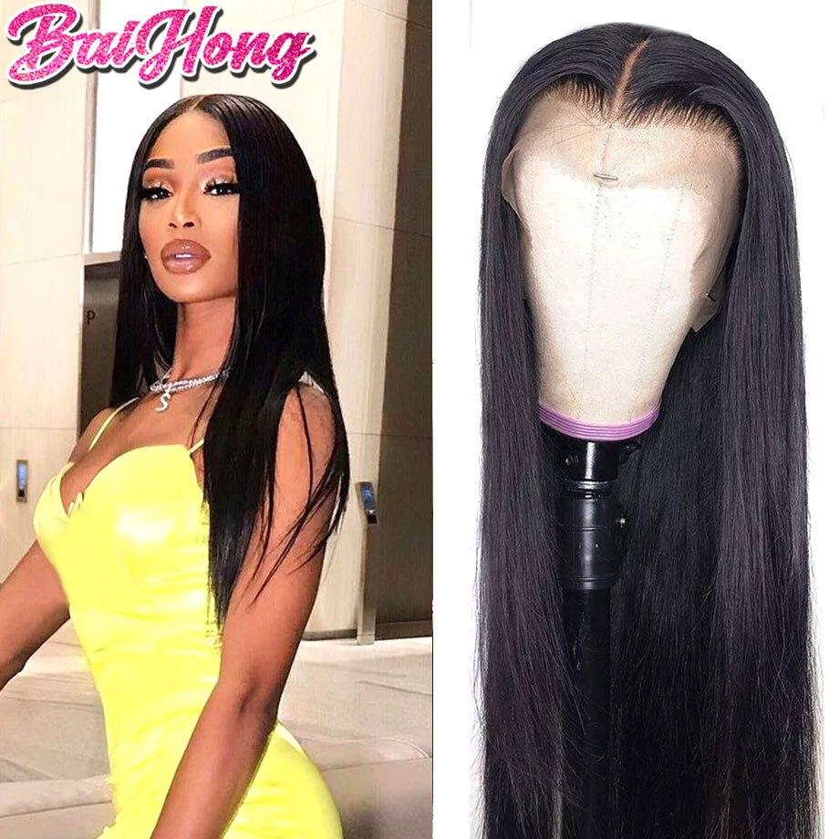 13x6 прямой парик на сетке, человеческие волосы, бразильские гладкие натуральные волосы, 13x4, парик на сетке спереди, человеческие волосы, пред...