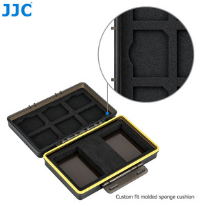 Image 4 - JJC Camera Battery Box Memory Card Case Holder Storage for SD SDHC SDXC MSD Micro SD MicroSD XQD CF Cards AA Battery for DSLR
