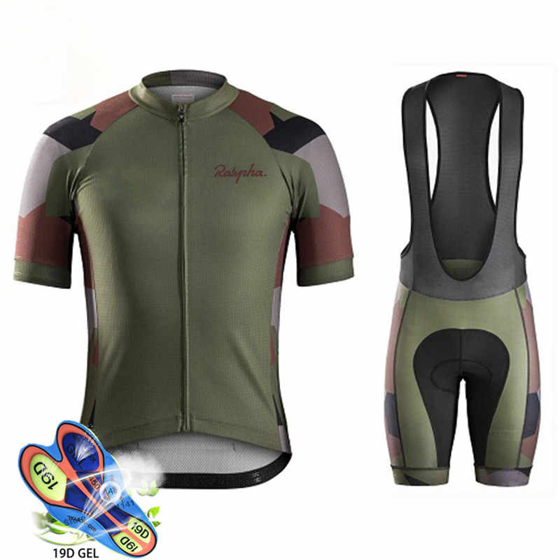 2019 Raphaing Summer Cycling Jersey Set Breathable MTB Bicycle Cycling Clothing Mountain Bike Wear Clothes Maillot Ropa Ciclismo