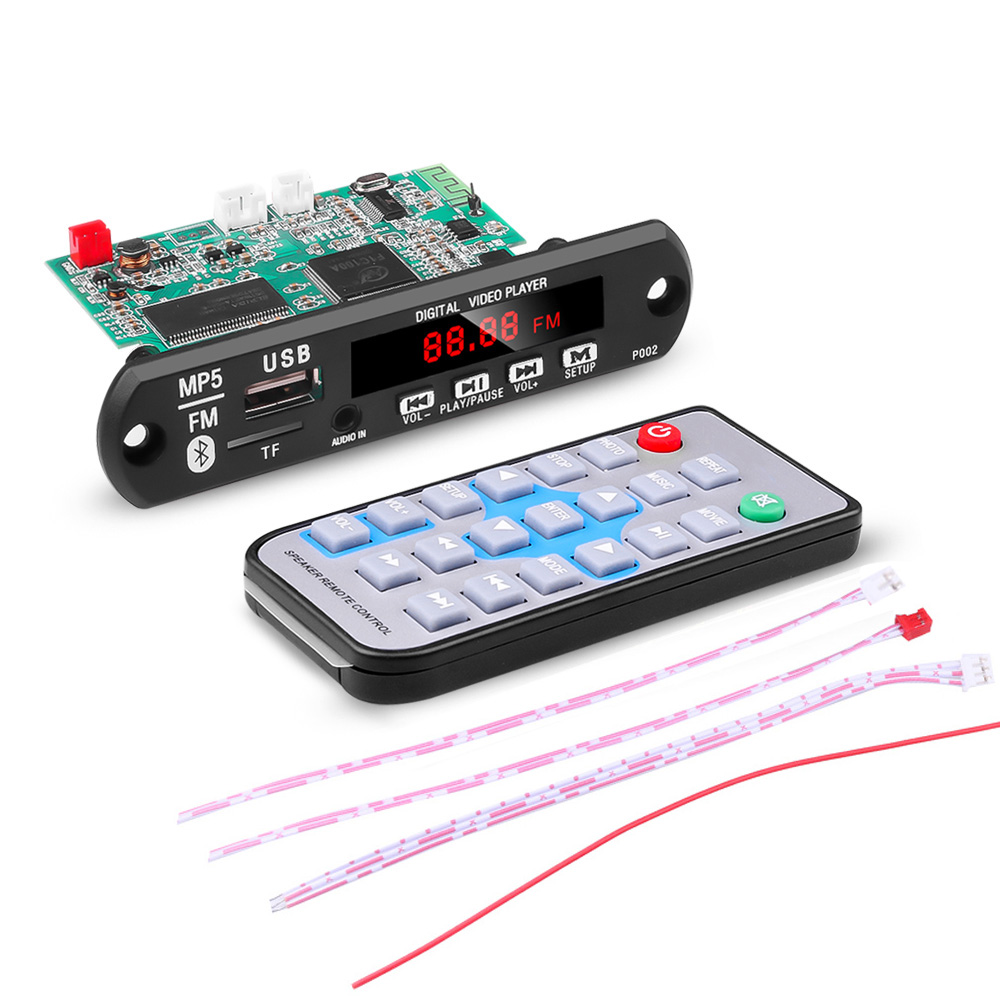 12V MP5 Player Detector Module Bluetooth Decoders Support USB TF MP3 WAV Lossless Decoding Diy Kit Electronic PCB Board