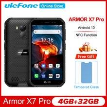 O telefone áspero 4gb 32gb do telefone 4 do android10 da armadura x7 de ulefone pro 5.0 androandrosmartphone impermeável ip68 4000mah nfc 4g lte 2.4g/5g do telefone móvel
