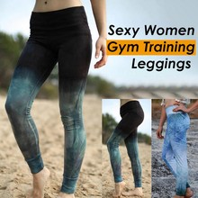 Fitness Jogging pantalons de course dégradé Sport Yoga Legging femmes entraînement pantalon de Sport collants vêtements de Sport extensibles énergie Yoga Leggins(China)