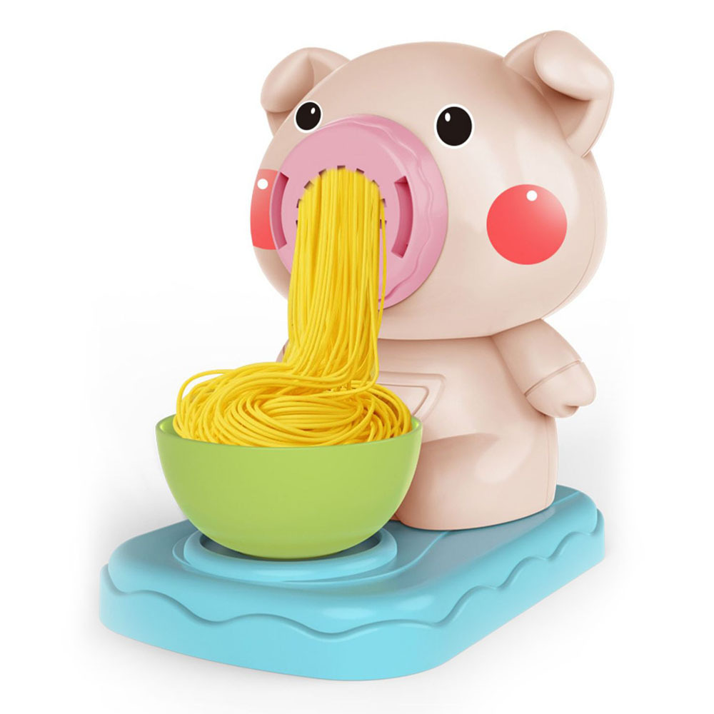 Cartoon Pig Noodles Machine Child Pretend Role Play Simulated Pasta Machine