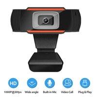 USB Computer Webcam Volle HD 1080P Webcam Kamera Digital Web Cam Mit Micphone Für Laptop Desktop PC Tablet Drehbare kamera