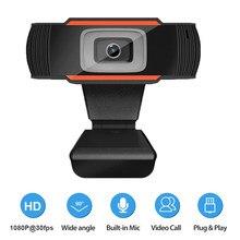 Usb computador webcam completo hd 1080p webcam câmera digital web cam com micphone para computador portátil desktop tablet câmera rotativa