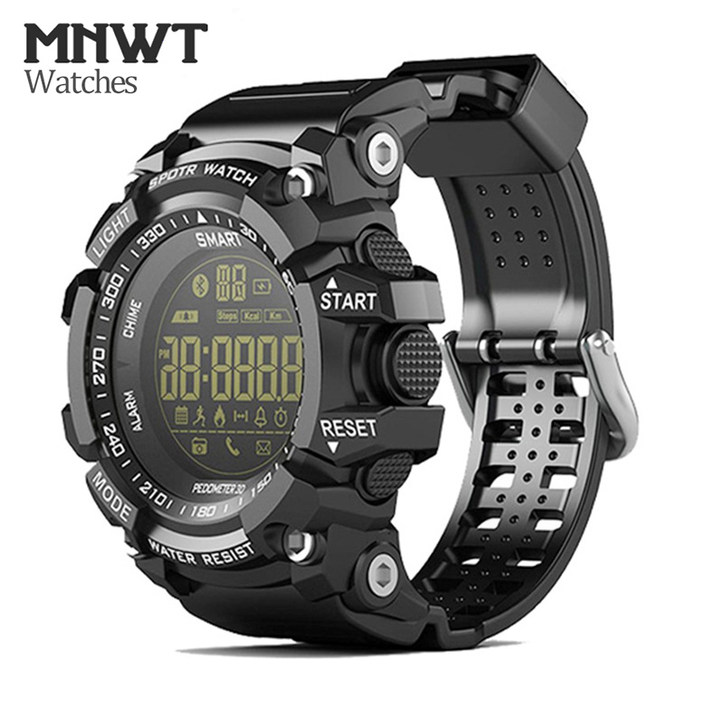 New MNWT Brand Mens Sport Watch 5ATM Waterproof Outdoor Activity Watches Fashion Clock Men Casual Digital Men Wristwatches Male smael 1708b