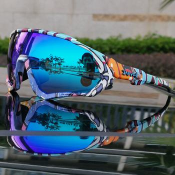 Hot TR90 okulary rowerowe mtb spolaryzowane sportowe okulary kolarskie gogle rowerowe górskie okulary rowerowe mężczyźni kobiety okulary rowerowe tanie i dobre opinie kapvoe UV400+ photochromic + polarized lenses 55mm cycling glasses MULTI 136mm Poliwęglan Unisex TR-90