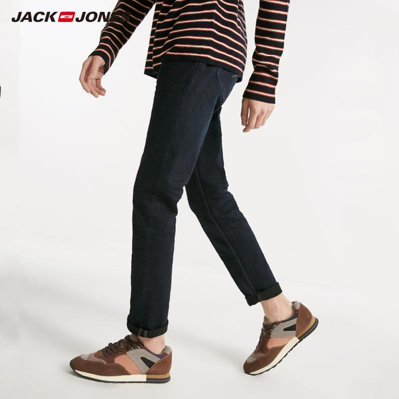 JackJones Winter Men's New Dark Business Casual Versatile Jeans 218432517