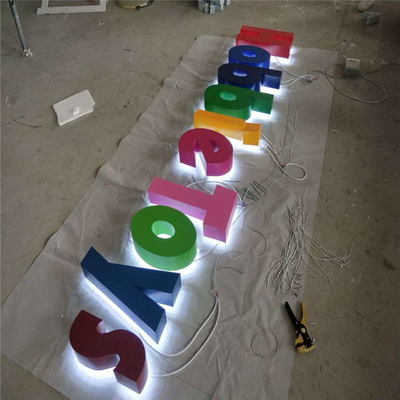 Factory Outlet outdoor advertising backlit  Stainless steel led letters