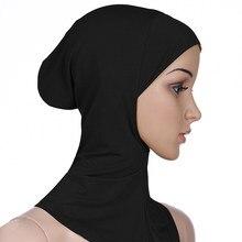 Feminino senhora ninja cabeça capa de algodão muçulmano headscarf hijab interno caps islâmico underscarf ninja hijab cachecol chapéu boné osso bonnet