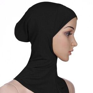 Women Lady Ninja Head Cover Cotton Muslim Headscarf Inner Hijab Caps Islamic Underscarf Ninja Hijab Scarf Hat Cap Bone Bonnet