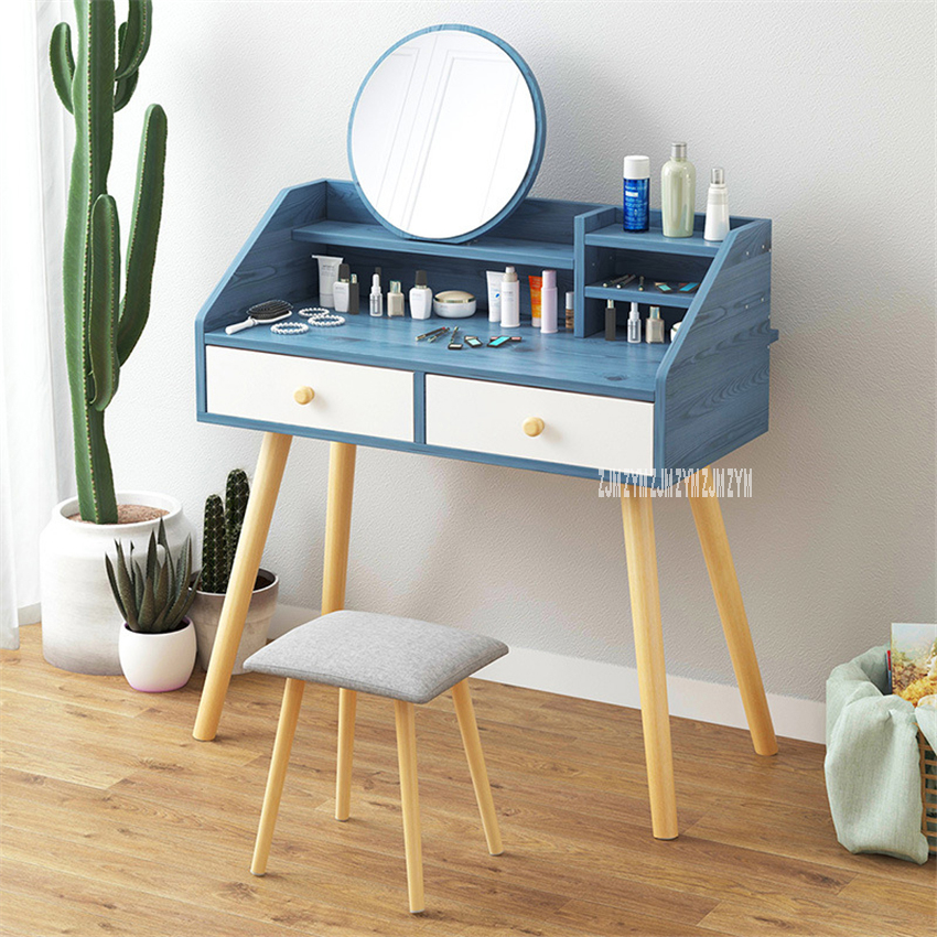 B2796/B2797 Manmade Board Dresser Modern Simple Dressing Table European Style Small Household Economic Mini Bedroom Makeup Table