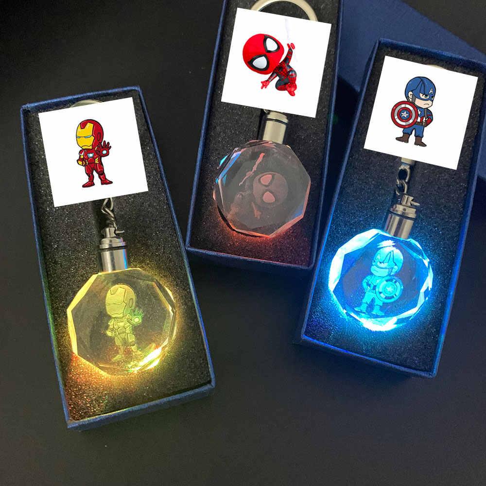 Zoeber Thời Trang Siêu Anh Hùng LED Móc Khóa Có Hộp Hoạt Hình Pha Lê Móc Khóa Dbz Son Goku Super Saiyan Móc Khóa Túi Mặt Dây Chuyền
