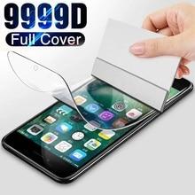 Hidrojel Film iPhone 7 8 6 6S artı ekran koruyucu iPhone 5 5C 5S SE 2020 cam koruyucu Film