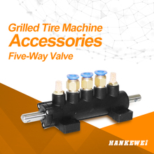 Five-way Car Tire Machine Valve Foot Pedal Cylinder Controlling Valve Switch Tyre Changer Valve Suspension Hanging valve Part 10pcs lot 4f210 08lg pneumatic foot switch locking the pedal switch valve stamped on the valve two five way shield 1 4 npt