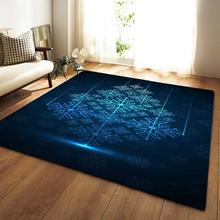 Carpets Soft Flannel 3D Printed Area Rugs Parlor Christmas Snowflake Mat Rugs Anti-slip Large Rug Carpet for Living Room Decor цена 2017