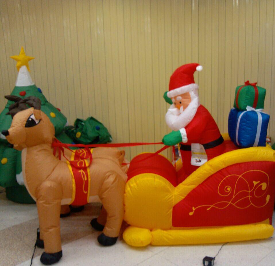 210 см гигантский надувной Санта Клаус двойной олень S светодиодный надувной веселые игрушки для детей рождественские подарки Хэллоуин вече...