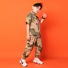 Modern Girls Hip Hop Jazz Street Dance Costume Camouflage Suit ChildrenS Jazz Dance Clothing Kids Performance Costumes 110 180
