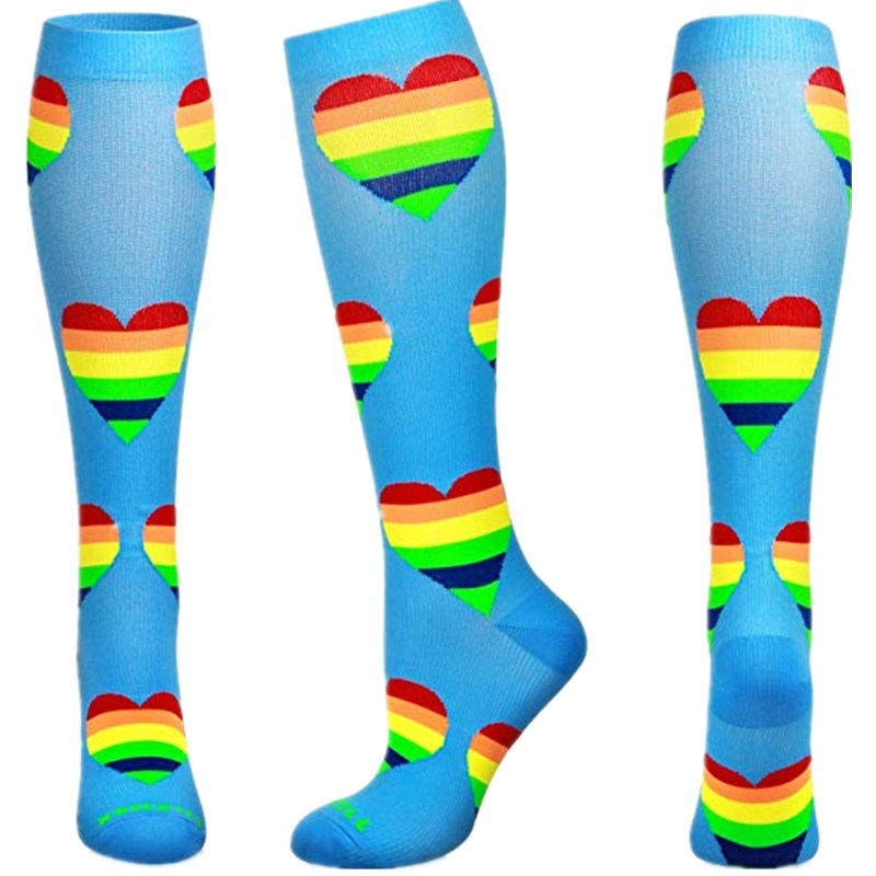 1 Pair Men Professional Compression Socks Breathable Travel Activities Fit For Nurses Shin Splints Flight Travel Socks