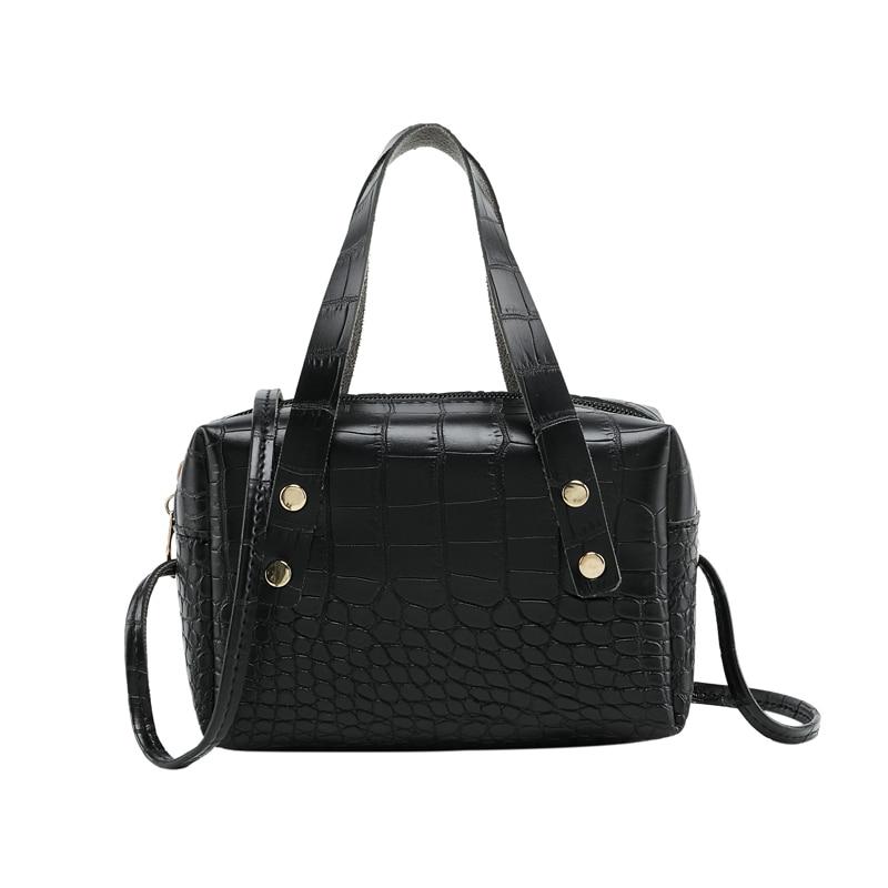 Soft PU Alligator Leather Crossbody Bags For Women 2020 Design Shoulder Messenger Bag Lady Mini Handbags Mobile Wallet