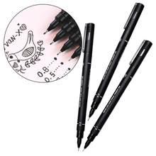Fineliner Pigma mikron cetvel kalemi 01 02 03 05 08 siyah kalem sanat hattı çizgi ince değil dayanıklı Blooming kalem kalem Anime belirteçleri V9T0