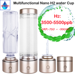 Portable Nano High Concentration Hydrogen Water Bottle Generator Antioxidant ORP SPE Electrolytic Ion Ionizer Breathing H2 Gas