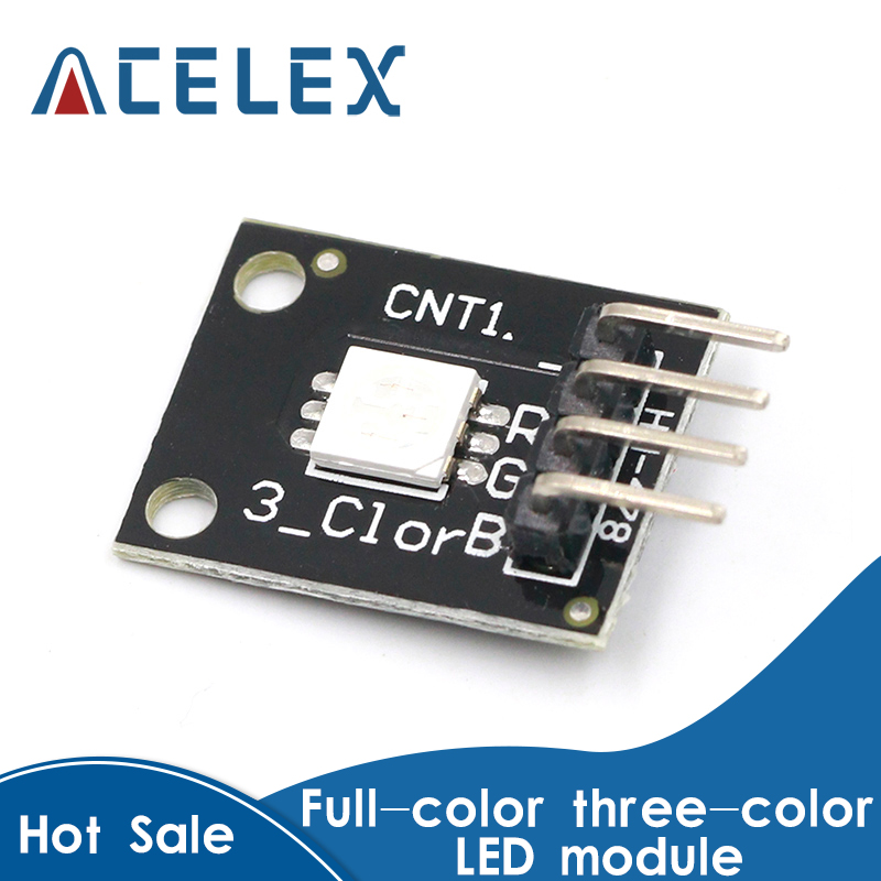5PCS KY-009 <font><b>5050</b></font> Pwm RGB SMD LED Module 3 Color Light For Arduino MCU Raspberry CF image