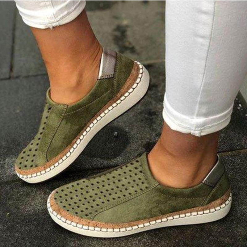 2020 Women Flats Shoes Zapatos Mujer Round Toe Slip On Shoe Woman Gladiator PU Leather Sapato Chaussure Womans Shoes E2022