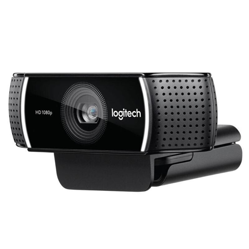 Logitech C922 PRO Webcam 1080P flux vidéo Full HD Autofocus ancre Web caméra commutateur de fond intégré double micro avec trépied - 4