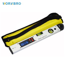 WORKBRO 400mm/16INCH Digital Display Angle Ruler High Precision Electronic Level 225 Degree Protractor Gauge Measuring Tool