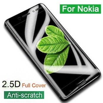 Перейти на Алиэкспресс и купить Чехол из закаленного стекла для Nokia 5 6 7 Plus 8 9 2,1 3,1 5,1 6,1 7,1 X5 X7 защитное стекло полное покрытие Защитная пленка для экрана
