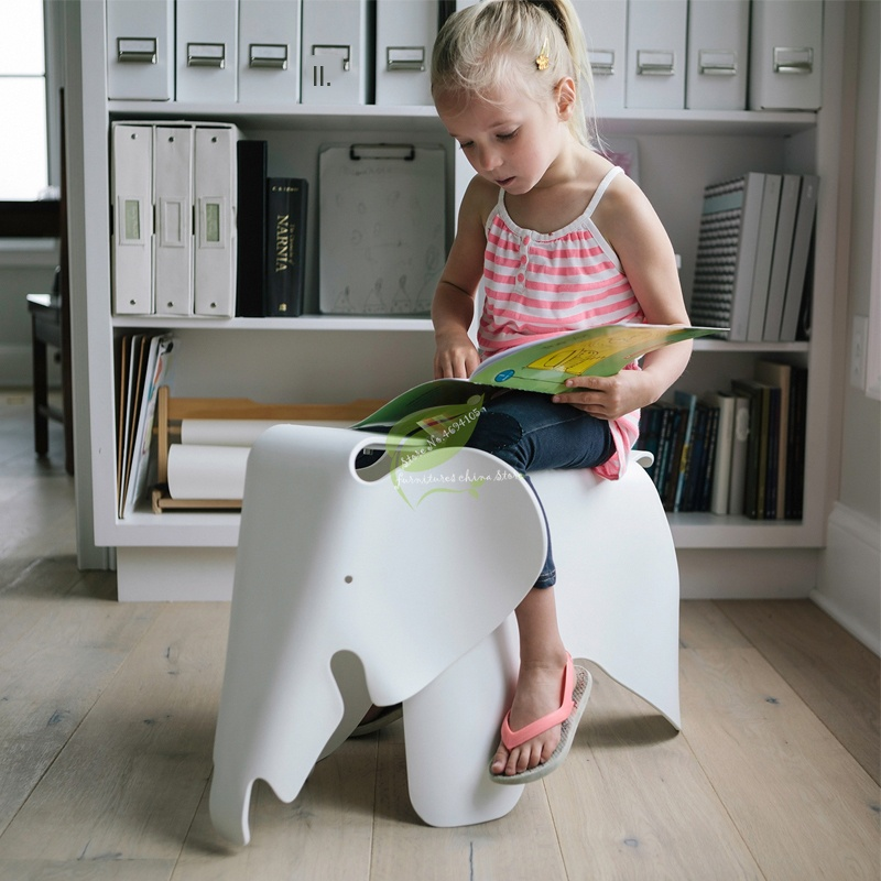 Elephant Shape Children Chair In Room Welcomed By The Children Animal Kids Chair Waterproof PP Plastic Chairs Bearing
