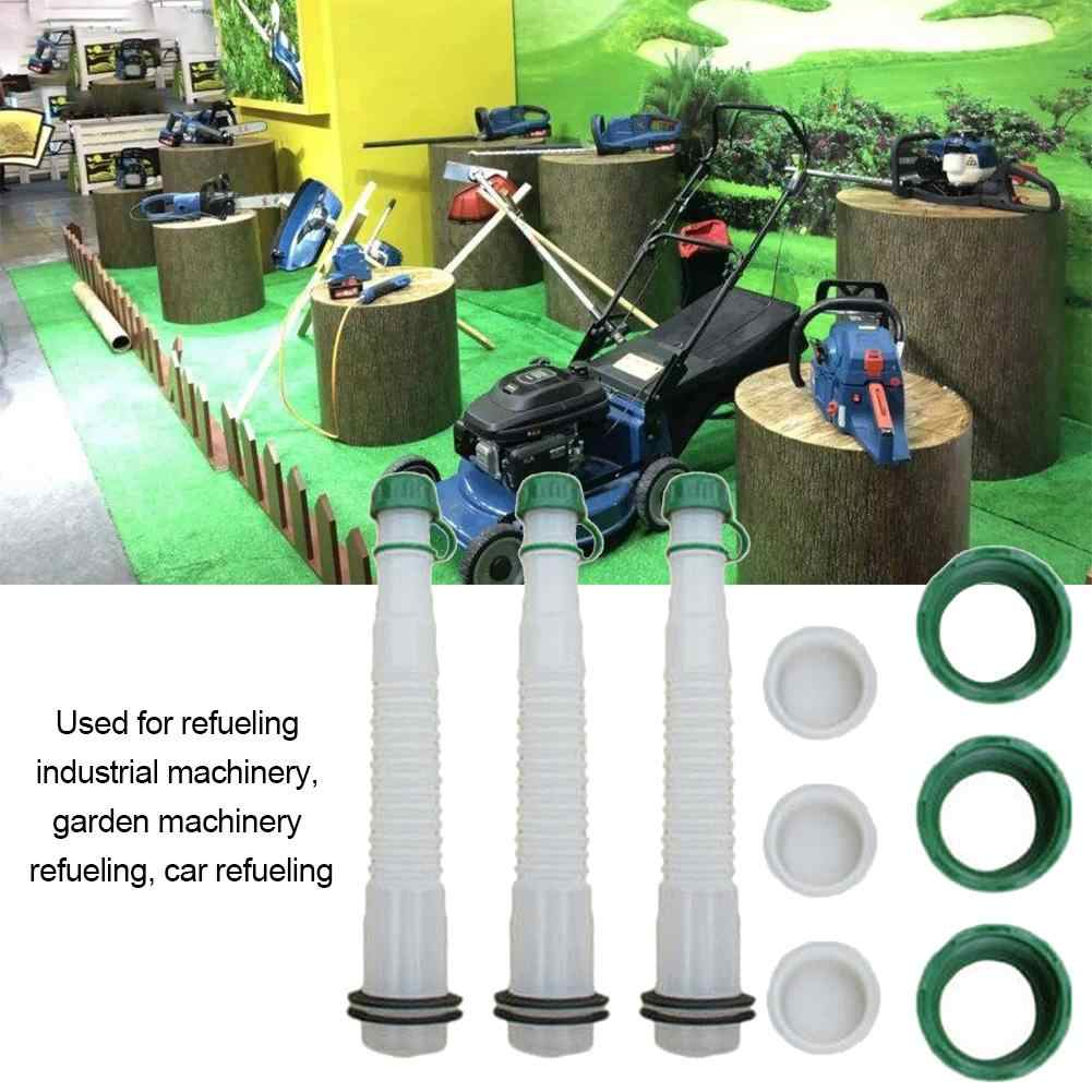 5L Gas Can Spout Kit Universal Gas Tank Pour Spout Replacement Set for Fuel Container Garden Industrial Machinery Refuel Tool 3 Sets
