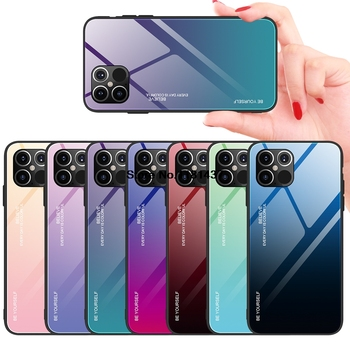Hard Gradient Glass Case for iPhone 12/12 Max/12 Pro/12 Pro Max 1